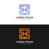 Czystej H listu loga znaka firmy ikony wektorowy projekt Zdjęcia Stock