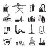 Czystość ikony ustawiać royalty ilustracja