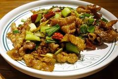 Czysty Chiński cuisineï ¼ Œ Smażący mięso zdjęcia royalty free