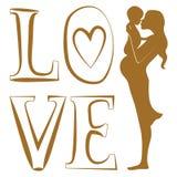 Czysty miłość druk Zdjęcie Royalty Free
