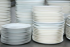 czysty naczynia wypiętrzająca talerzy sterta Obraz Royalty Free
