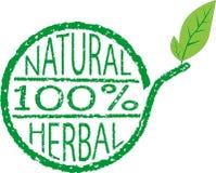 Czysty naturalny i ziołowy ilustracji