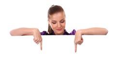 czysty sztandar kobieta zdjęcia stock