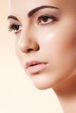 czysty zdrowie modela czysty skóry skincare zdrój Fotografia Stock