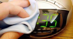 czyszczenie alarmowego zegar obraz stock