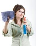 czyszczenie okien Zdjęcia Stock