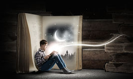 Czytać i wyobraźnia Obraz Stock