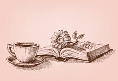 Czytać książkowego konceptualnego rysunek Zdjęcie Stock
