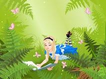 Czytać Alice royalty ilustracja