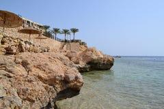 Czyta morze w Egipt fotografia stock