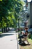 Czytać w parku Fotografia Royalty Free