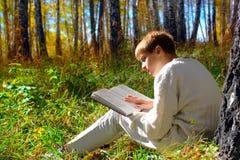 czytanie chłopca Zdjęcia Royalty Free