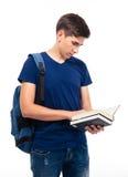 Czytanie męska studencka książka Fotografia Royalty Free