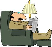 czytanie papieru Obraz Stock