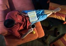 czytanie w domu Obraz Royalty Free