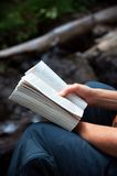 czytanie zewnętrznego Obraz Stock
