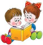 czytelnicy royalty ilustracja