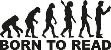 Czytelnicza ewolucja - urodzona czytać ilustracja wektor