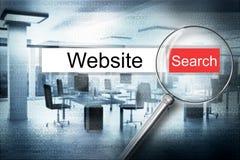 Czytelnicza strony internetowej wyszukiwarki rewizi ostrzeżenia 3D ilustracja Obraz Royalty Free