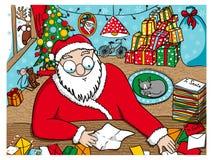 Czytelnicze Święty Mikołaj wiadomości ilustracja wektor