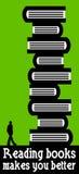 Czytelnicze książki Zdjęcia Stock