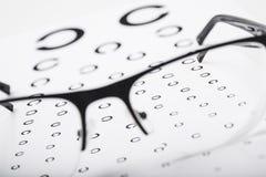 Czytelniczy oczu szkła Obraz Stock