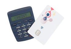Czytnik kart dla czytać bank kartę Obraz Stock