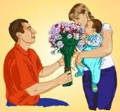 Dá flores Foto de Stock Royalty Free