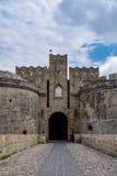 D'Amboise de porte en Rhodes, Grèce Photographie stock