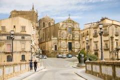 D'Assisi de San Francisco, Caltagirone, Sicilia foto de archivo libre de regalías