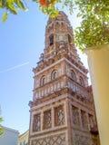 D'Utebo de Torre en el espanyol de Poble de Barcelona Fotos de archivo