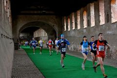 dâOro Halve Marathon van Scarpa in Vigevano, 2009 Royalty-vrije Stock Fotografie