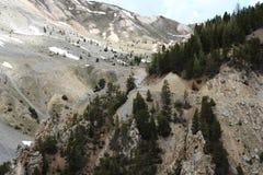 Déserte de Casse do La, paisagem calva no parque natural de Queyras do francês Imagem de Stock Royalty Free
