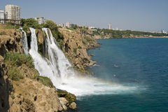Düden waterfalls at Antalya, Turkey Royalty Free Stock Photo