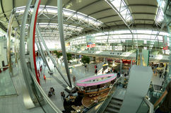 Düsseldorf airport - Departures hall Royalty Free Stock Image
