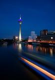 Düsseldorf At Night Royalty Free Stock Image