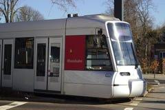DÃ ¼ sseldorf, Duitsland, 2019, openbaar vervoer, tram stock afbeeldingen
