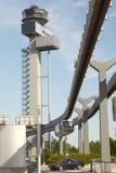 DÃ-¼sseldorf SkyTrain och nya ControlTower Royaltyfria Bilder