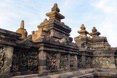 DÃa di EL del durante di Templo de Borobudur, Yogyakarta, Java, Indonesia immagine stock libera da diritti