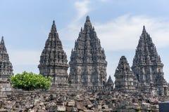 DÃa di EL del durante di Templo de Borobudur, Yogyakarta, Java, Indonesia immagine stock