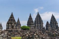 DÃa do EL do durante de Templo de Borobudur, Yogyakarta, Java, Indonésia imagens de stock