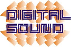 Dıgıtal sound stock illustration