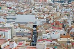 Dächer in Alicante Stockfotografie