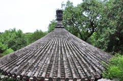 Dächer der alten chinesischen Architektur stockbild