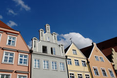 Dächer der alten Gebäude. Stockfotos