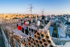 Dächer der alten Stadt Jerusalem, Israel Stockfotos