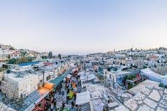Dächer der alten Stadt Jerusalem, Israel Stockbilder