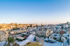 Dächer der alten Stadt Jerusalem, Israel Stockbild