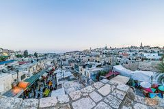 Dächer der alten Stadt Jerusalem, Israel Stockfotografie