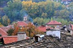 Dächer der alten Stadt von Lovech stockfotos